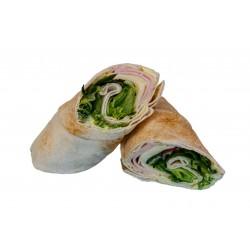 ΑΡΑΒΙΚΗ ΠΙΤΑ με γαλοπούλα , τυρί  και σαλάτα