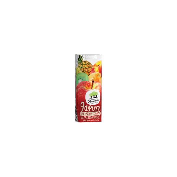 ΧΥΜΟΣ ΧΡΙΣΤΟΔΟΥΛΟΥ 9 φρούτα 250ml